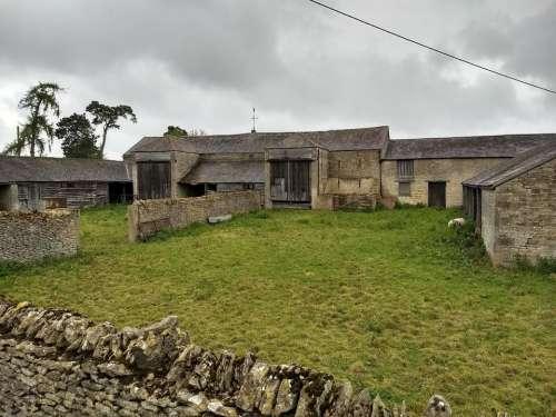 old farm weathered farm buildings