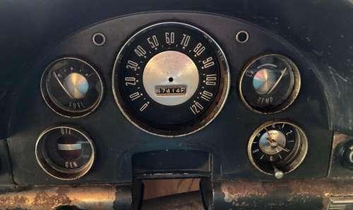 car dashboard rusty rusted vintage