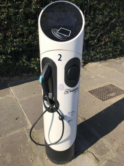 electric car charging point pavement eco friendly renewable energy