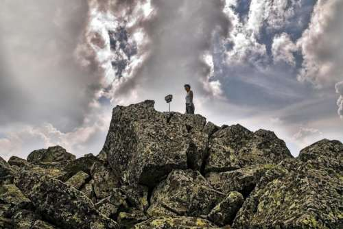 mountain rocks high peak tourism