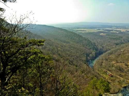Pennsylvania mountains hills landscape creek