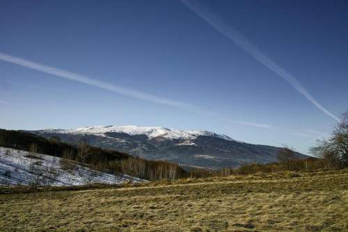 landscape mountain peak nature