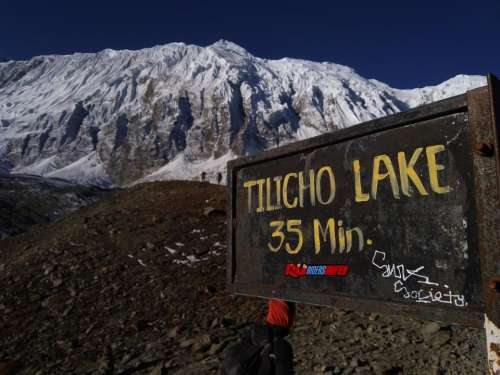 Tilicho lake Asia Nepal Himmalay mountains