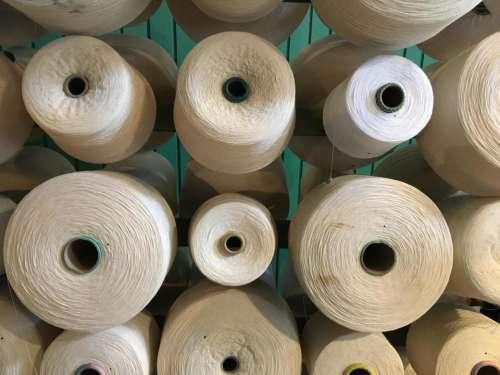 Threads weaving textiles white