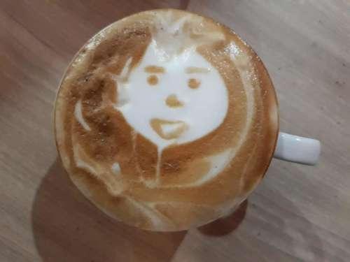 Milk capachino coffee