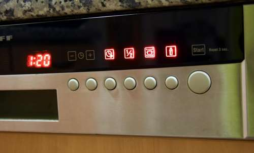 Dishwasher dishes clean automatic display