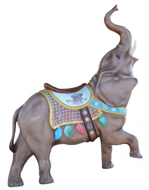 carousel merry go round animal elephant ride