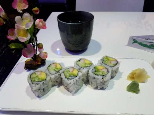 Japanese Asian food appetizer California Roll