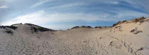 dune sea beach panorama sky