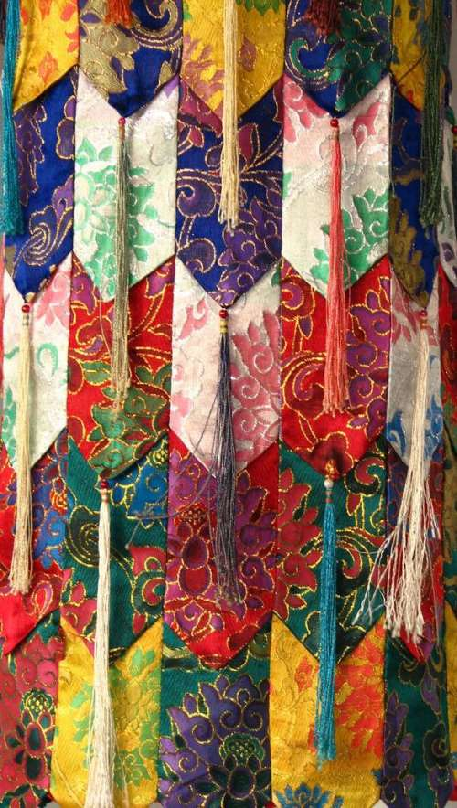 cloth drapery silky colorful fabric