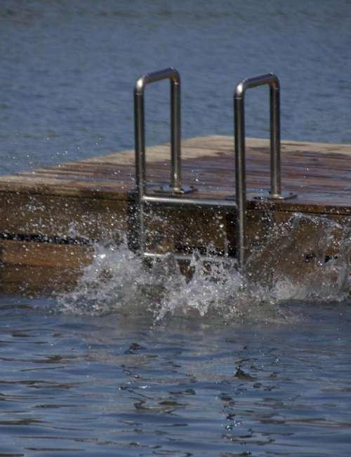 Floating Dock Lake Water Splash Cannonbal