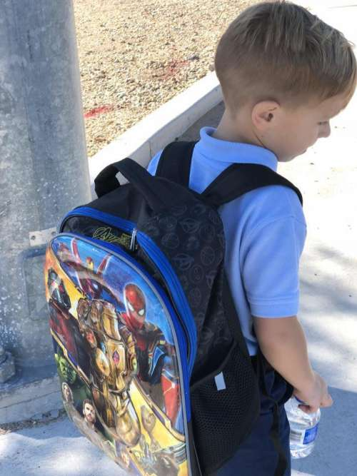 backpack little boy boys backpack super heroes super hero backpack