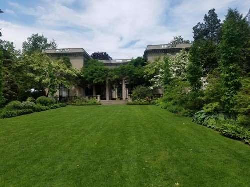 Mansion estate garden lawn