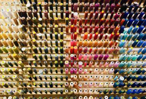 thread textile industry abstract sewing