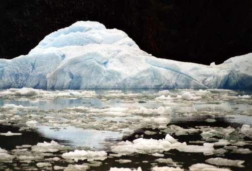 iceberg ice blue water Alaska