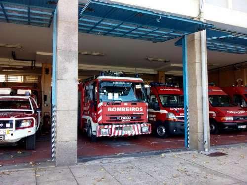 Fire department firehouse fire engine fire truck emergency