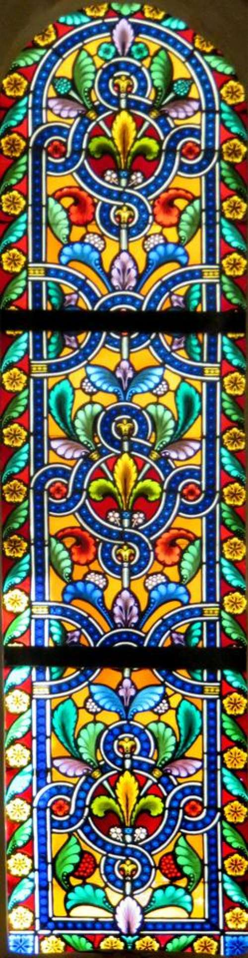 stained glass design colorful repeating