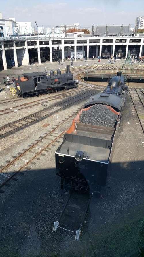 train Steam Locomotive steam museum japan