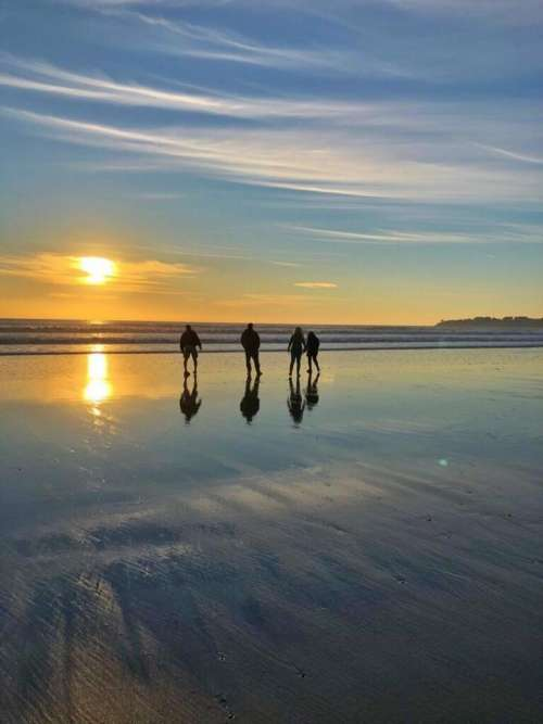 Seashore reflection beach ocean