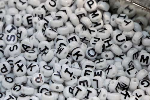 beads letters alphabet crafts