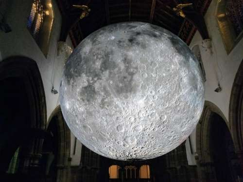 moon scale model cathedral Leicester