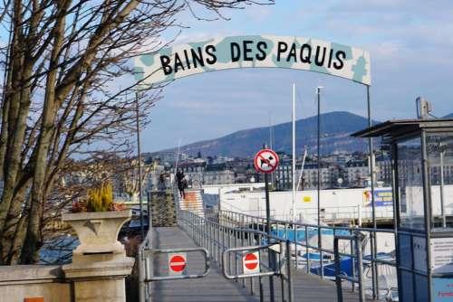 Switzerland Europe street dock tourism