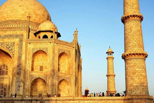 Taj Mahal  landmark India copy space travel