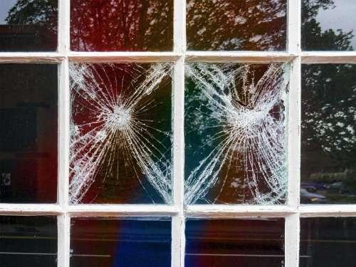 broken glass broken window window pane