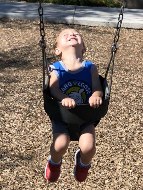 swing park swinging playing joy