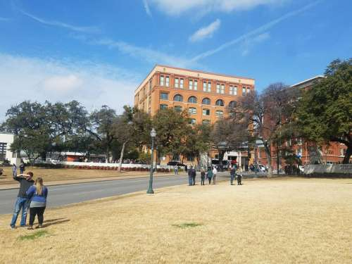 Book depository Dealey plaza Dallas Texas Kennedy