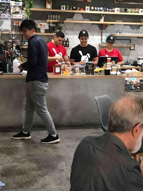 cafe coffee staff