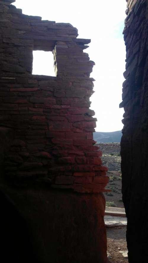 Wupatki National Monument doorway door window ruins