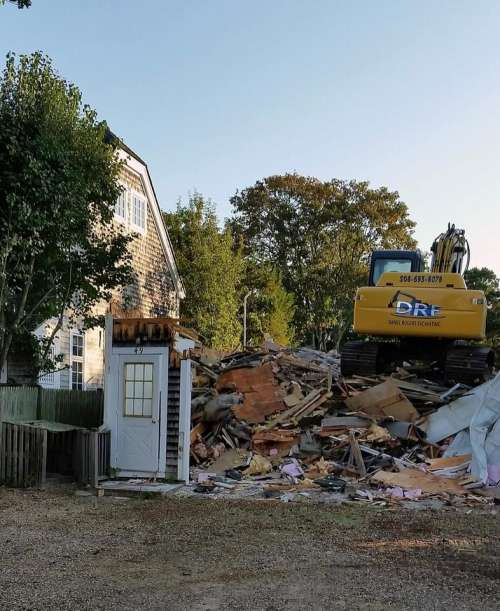 Renovation demolition front door