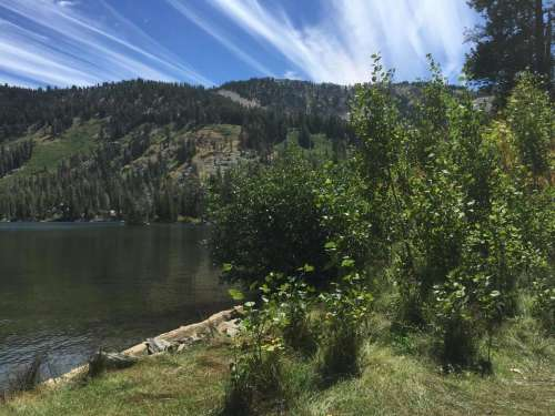 Upper Echo Lake CA water lake scenic