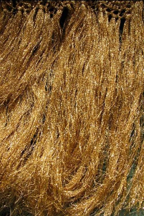 gold texture shimmer hair fringe