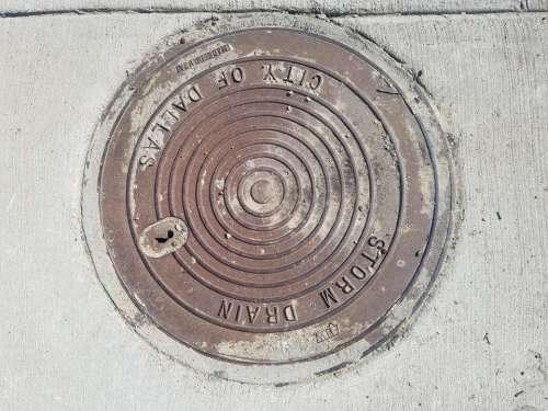 Sewer manhole street DPW manhole cover