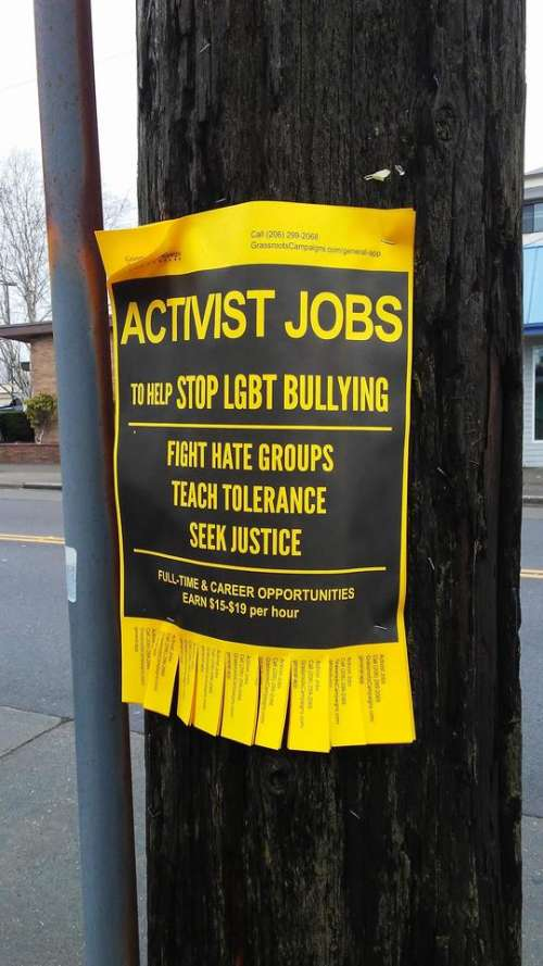 yellow activism activist sign words