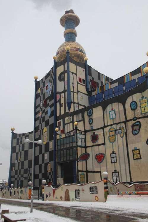 Power plant Hundertwasser Vienna europe building