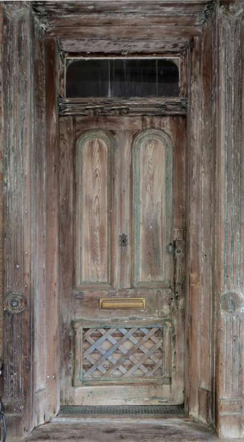 door wood distressed grunge decaying