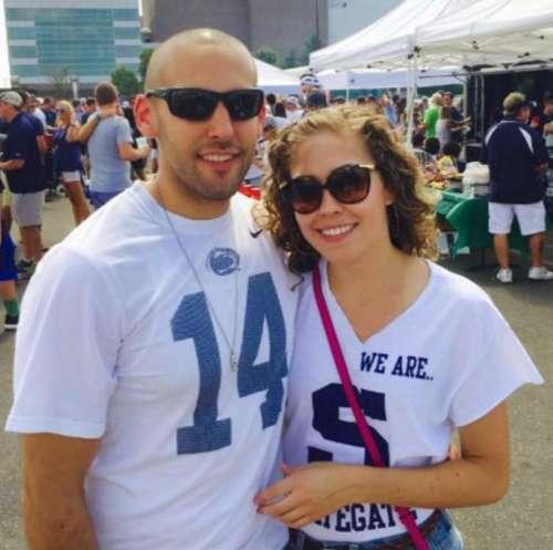 Zachary Knable Penn State Vs Temple people couple sports fans