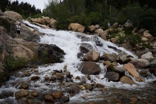 rocky mountain national park RMNP landscape waterfall alluvial fan