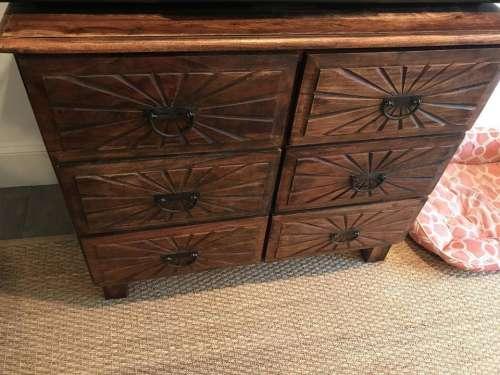 dresser wood carved