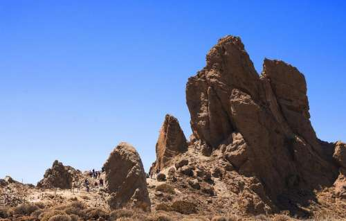 Teide National Park  Tenerife Canary Islands Spain rocks