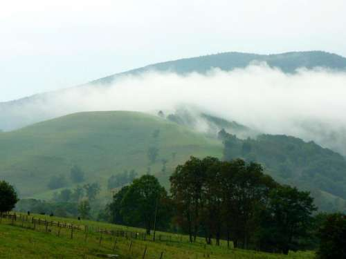 landscape West Virginia mountains farm meadow