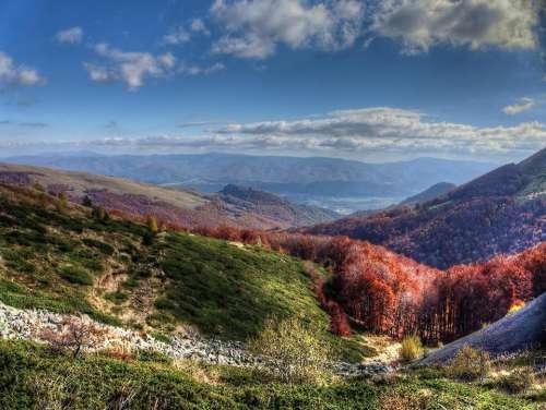 landscape scenery nature mountains peaks