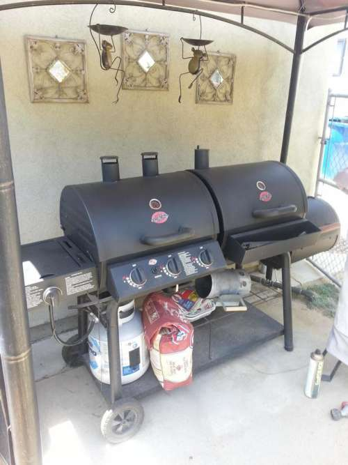 smoker gas grill grill