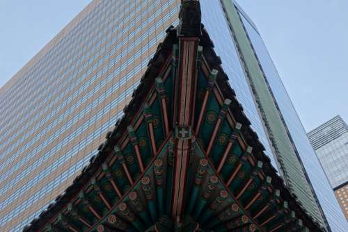 seoul pagoda Asia architecture city