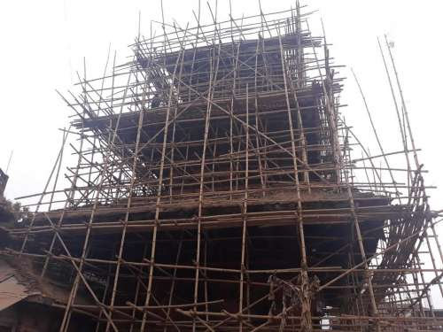 Construction scaffolding Asia Nepal