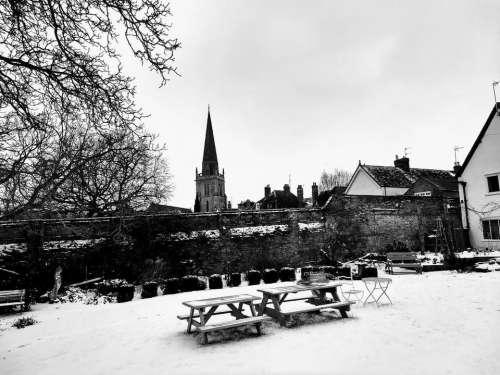abingdon st helens church winter snow