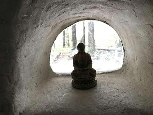 buddha meditation mindfulness window retreat